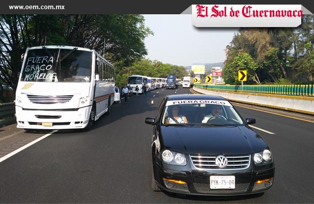 Víctimas de la inseguridad realizaron una caravana a la Ciudad de México