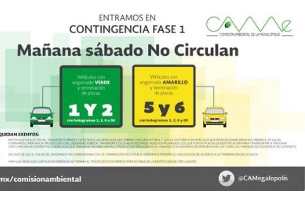 CAMe informa que continúa Fase I de Contingencia Ambiental en el Valle de México
