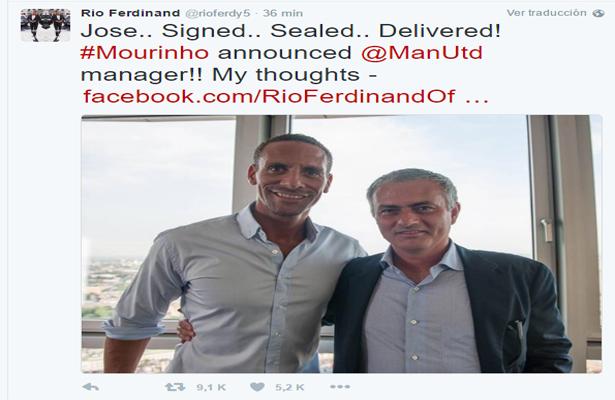 Mourinho ya firmo por el Man. United