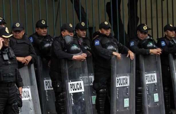 Despliegue de policías por manifestaciones de la CNTE