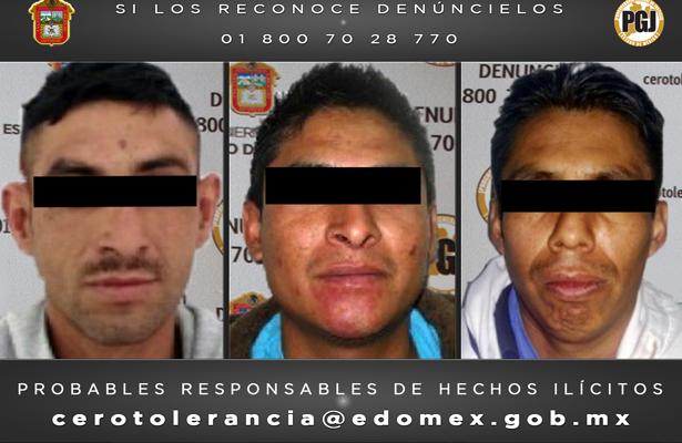 PGJEM arresta a sujetos acusados por robo y violación