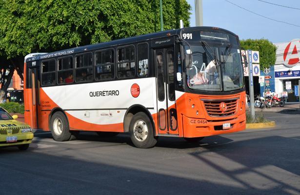 Seis asaltos diarios sufre el transporte público de Querétaro