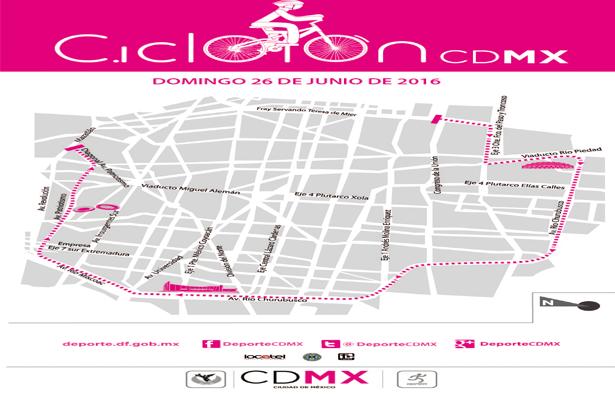 Se modifica la ruta del Ciclotón CDMX este domingo 26 de junio