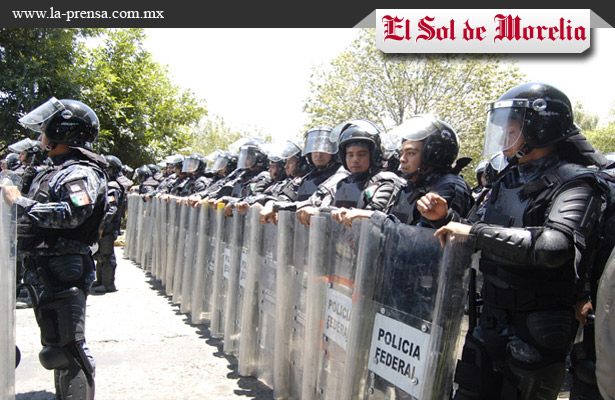 Resguardan Morelia por marcha de la CNTE