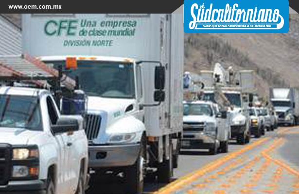Se prepara CFE local, para temporada de huracanes, en Baja California Sur