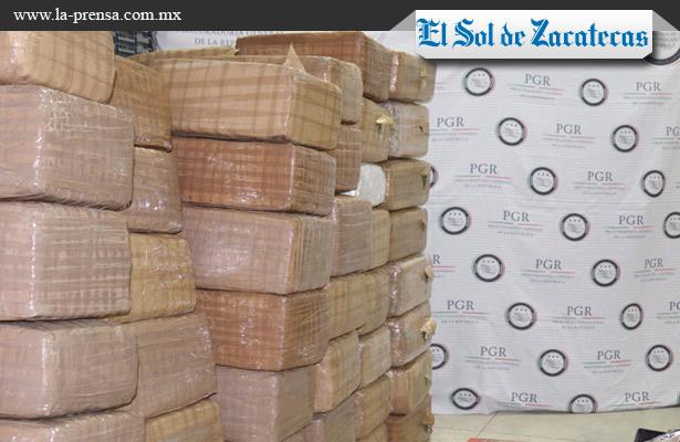 Dos toneladas de marihuana aseguradas en Tepetongo