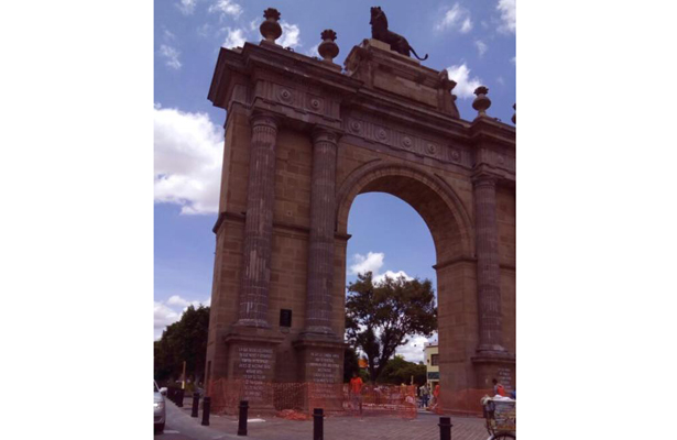 Comienzan trabajos de la segunda etapa de restauración del Arco de la Calzada