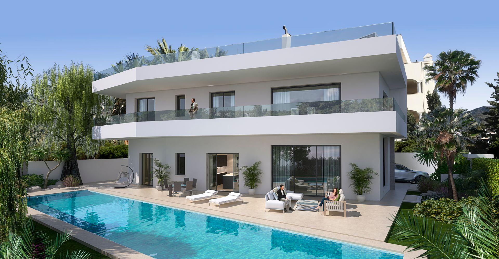 Вилла класса люкс в Marbella, Milla de Oro, продажа