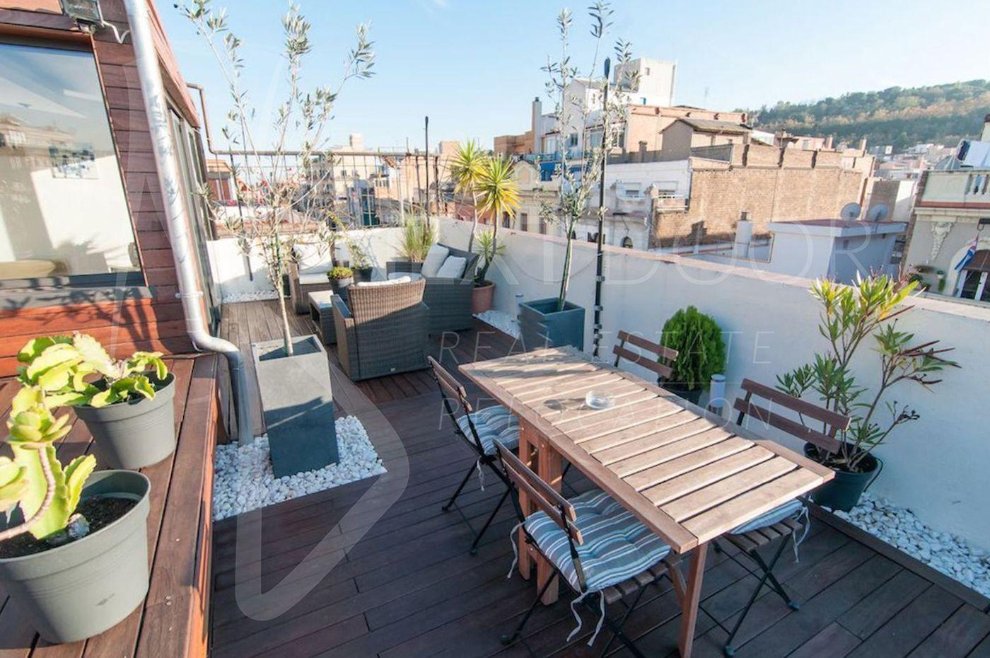 Ático en Barcelona, Sants-Montjuic, alquiler