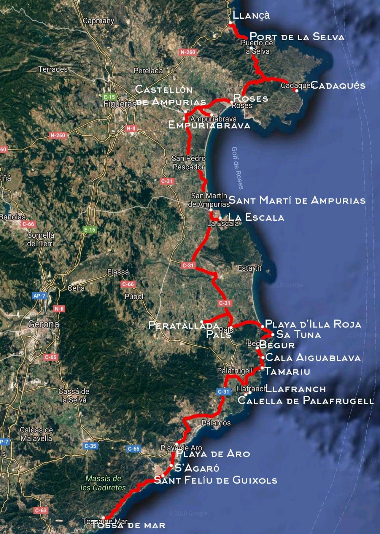 Costa Brava Espana Mapa.17 Pueblos De La Costa Brava Que Van A Enamorarte