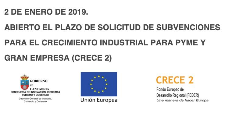 Abierto el plazo de solicitud de Subvenciones CRECE 2 para activos industriales