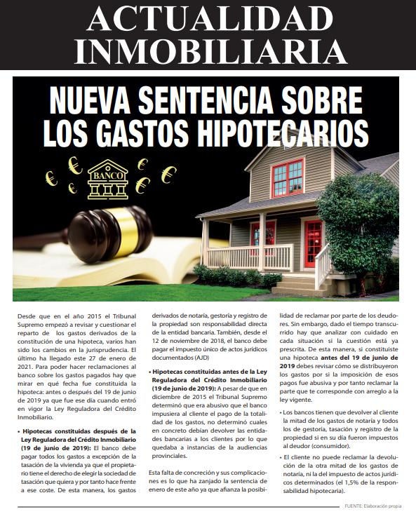 Newsletter Inmobiliaria Marzo 2021