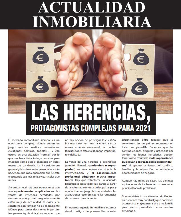 Newsletter Inmobiliaria Abril 2021