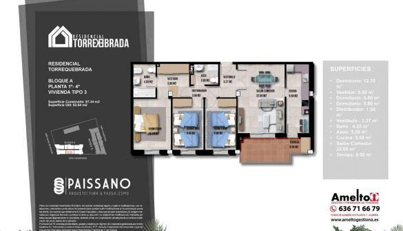 Promoción de pisos en Roquetas de Mar