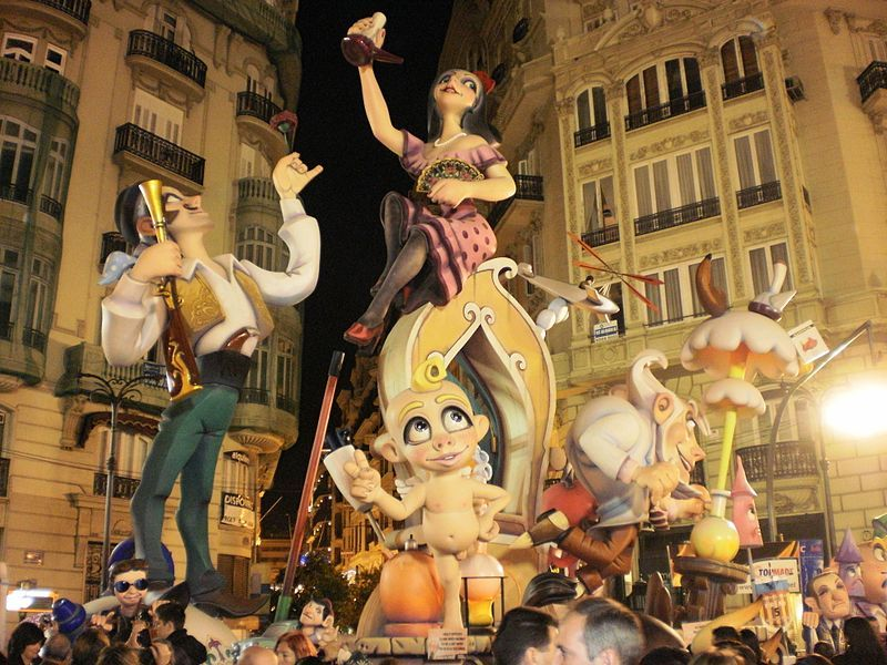 Fallas – typical Spanish Spring Festival