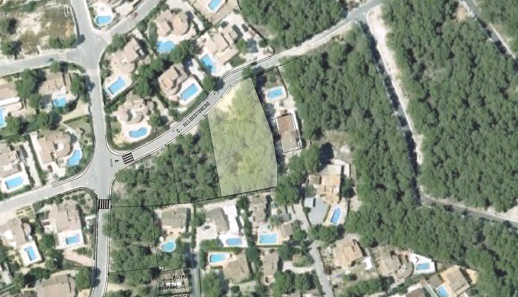 Terrain à Moraira, Urbanizacion El Bosque, vente