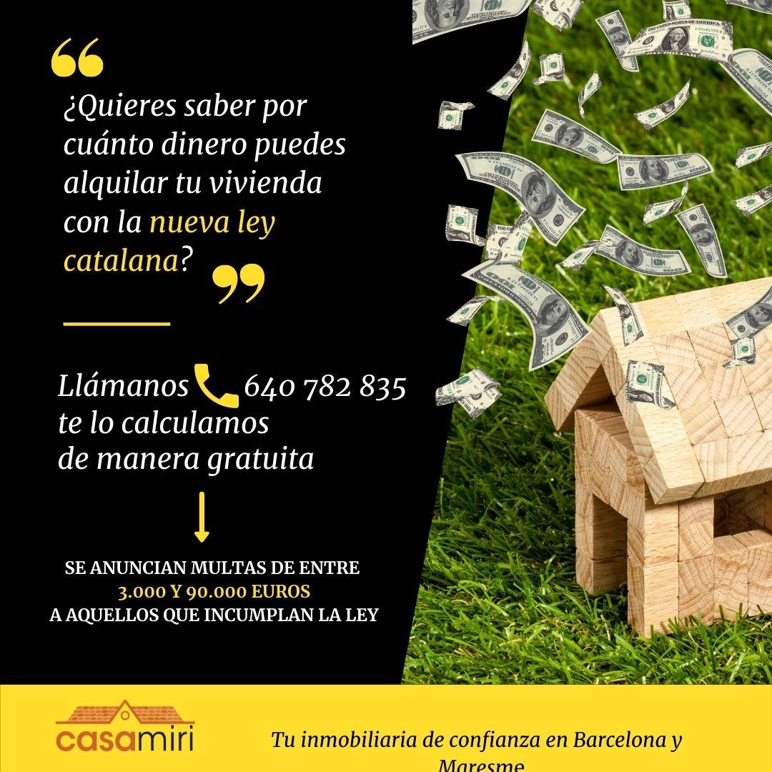 Nueva ley catalana de precios de alquiler
