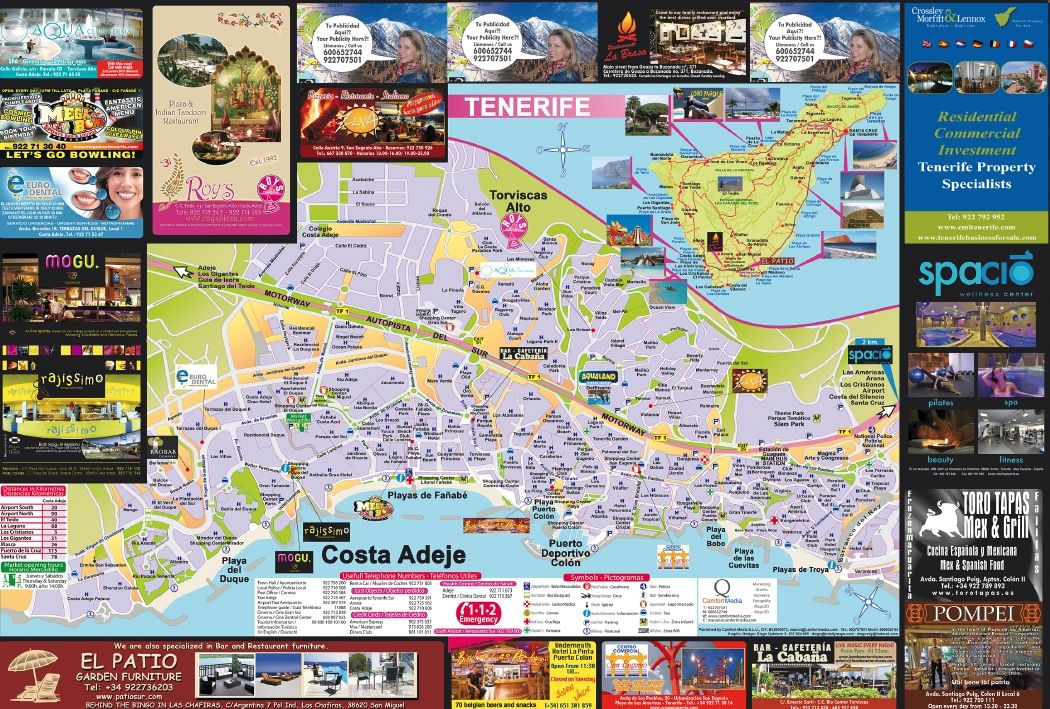 Costa Adeje Map