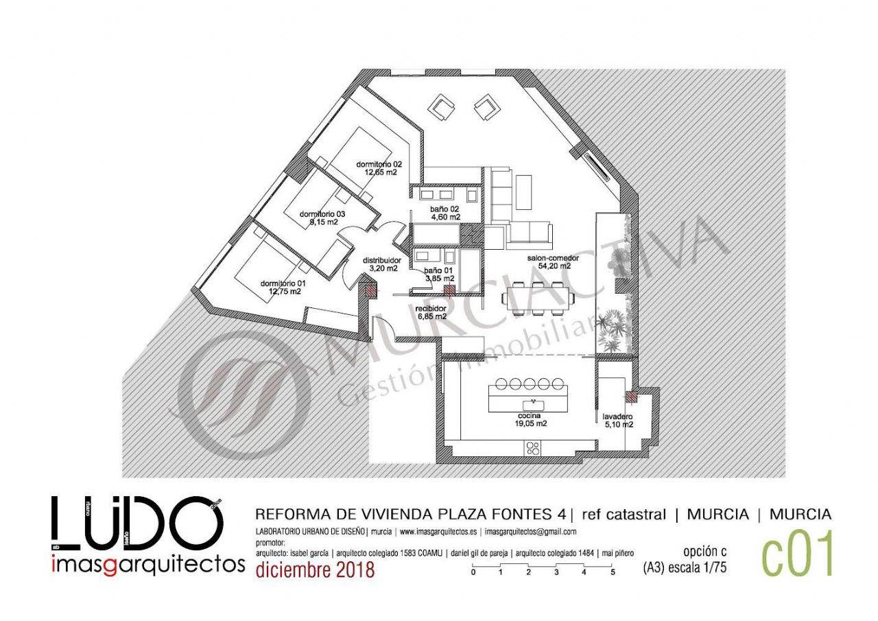Piso en Murcia, CENTRO - CATEDRAL, venta