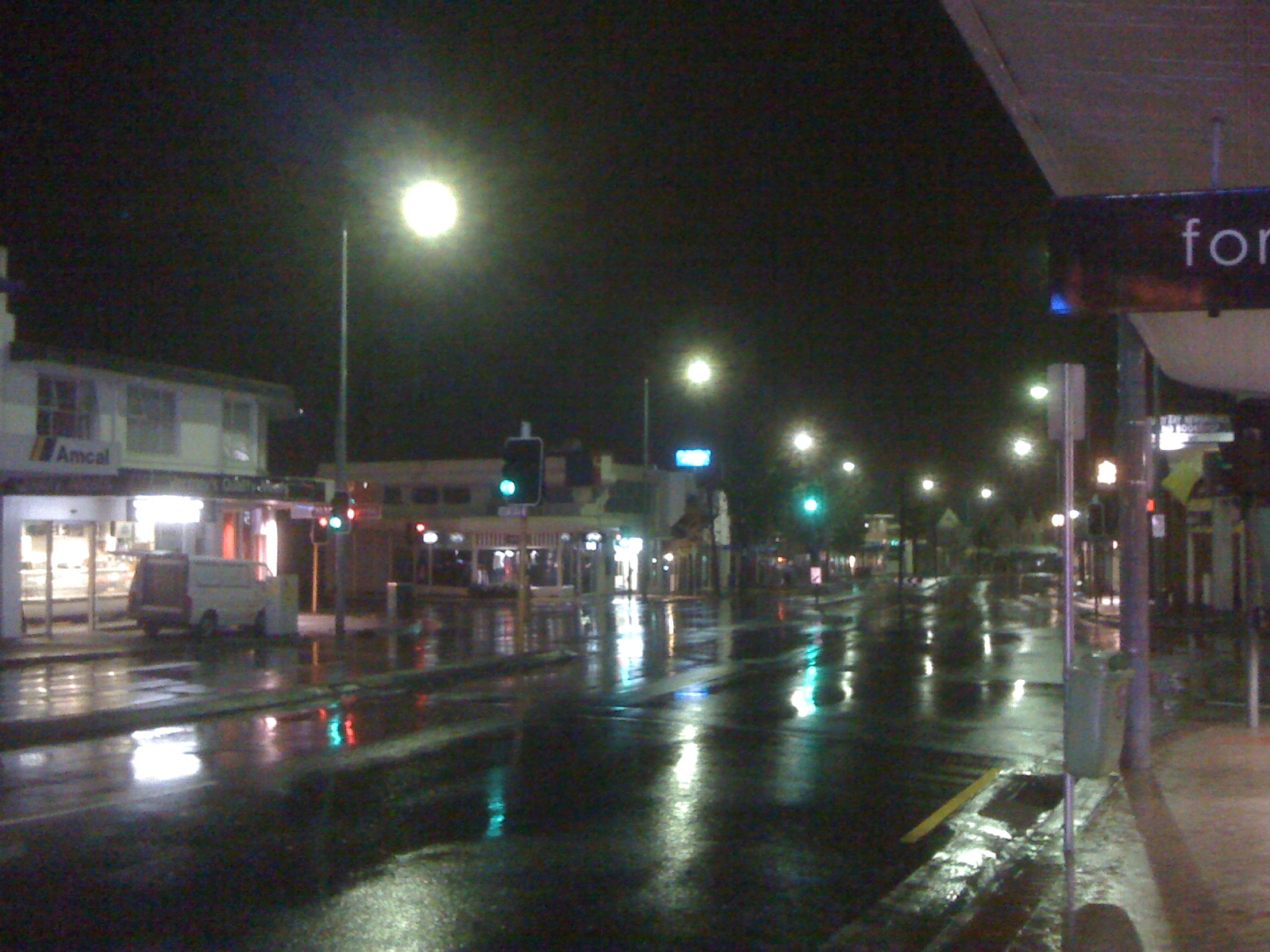 Sandy Bay at 5:30 AM on a rainy morning