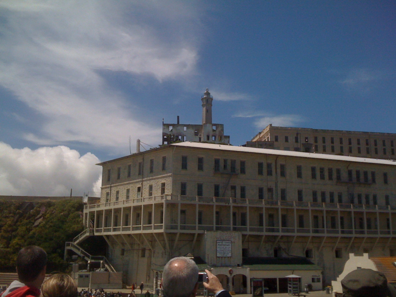 Alcatraz from a boat