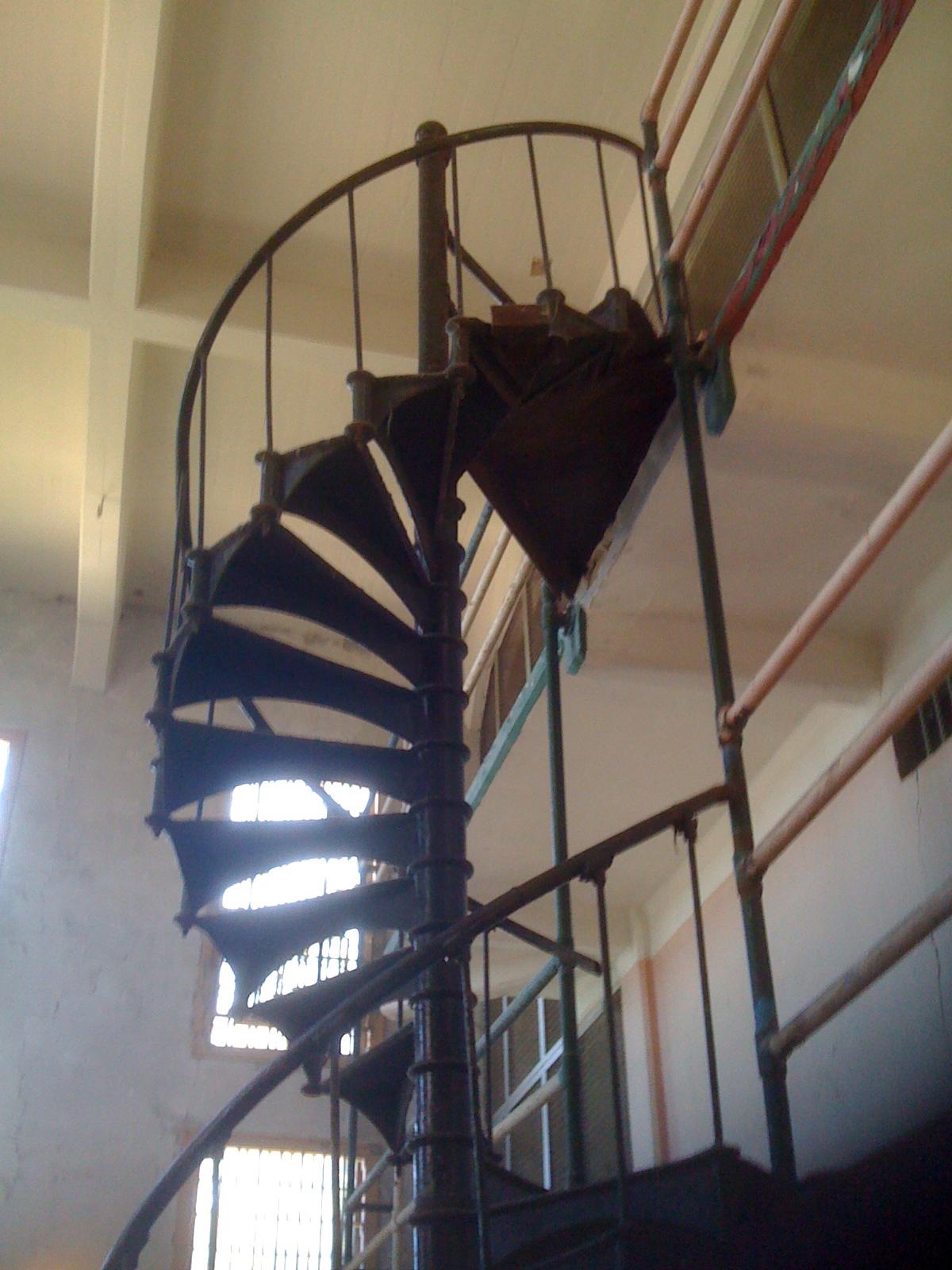 Gaunt prison stairs