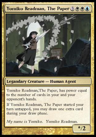 "Yomiko Readman, ""The Paper""...if she were an MtG card."