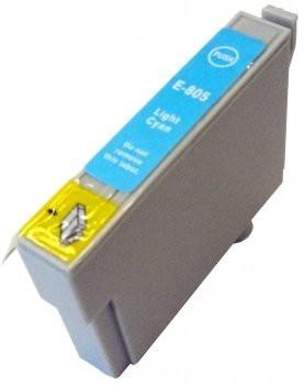 T0805 compatibel inktpatroon licht cyaan - 15 ml