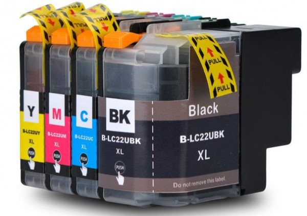 LC22E XL Set compatibel inktpatronen - 4 stuks