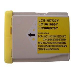 LC1000/LC970 compatibel inktpatroon geel - 28 ml XL
