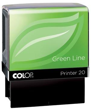 Colop stempel Green Line Printer Printer 20, max. 4 regels, voor België, ft. 14 x 38 mm