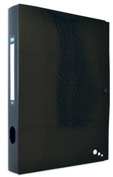 Elba Art Studio elastobox, ft A4, rug van 4 cm, uit PP, zwart