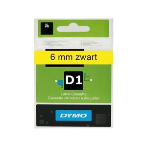 Dymo Labeltape 43618 - 6mmx7m - Zwart Op Geel