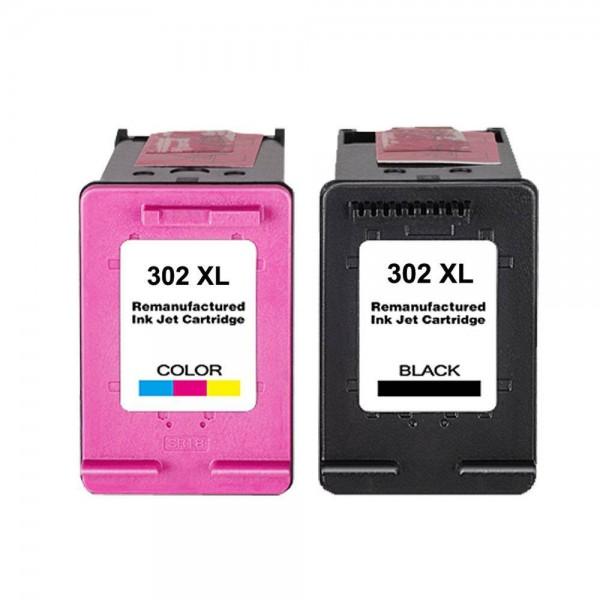 Compatibel inktpatronen nr. 302XL voordeel set - Kleur en Zwart
