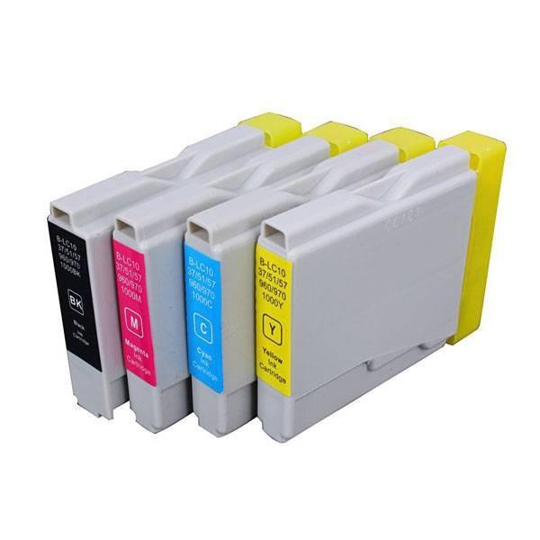 LC1000/LC970 compatibel inktpatronen set - 4 stuks XL