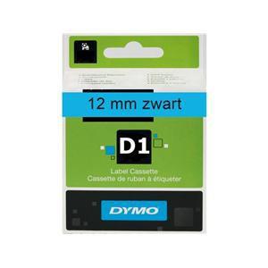 Dymo Labeltape 45016 - 12mmx7m - Zwart Op Blauw