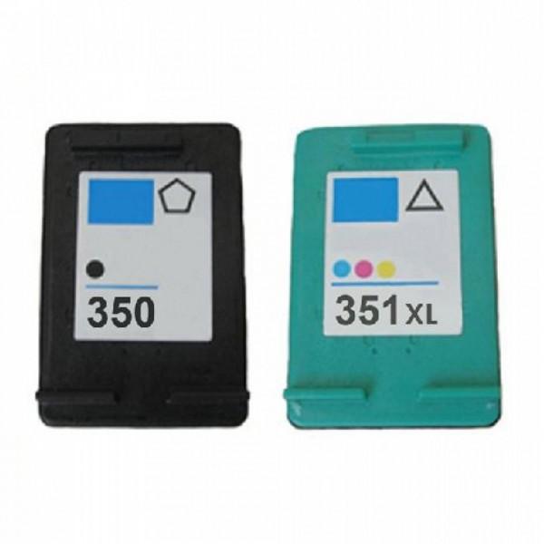 Compatibel inktpatroon voordeel set - nr.350XL+351XL