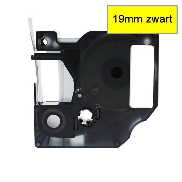 Compatible Labeltape 45808 - 19mmx7m - Zwart Op Geel
