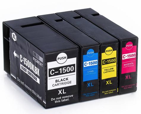 PGI-1500 Serie voordeel set compatibel - 4 stuks