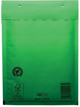 Luchtkussenenveloppen 180x265 mm, doos van 100 stuks, groen