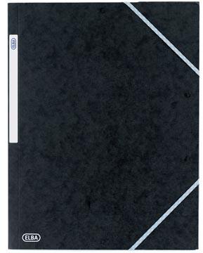 Elba Top File elastomap uit karton, ft A3, zwart