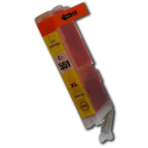CLI-551Y compatibel inktpatroon geel - 11 ml