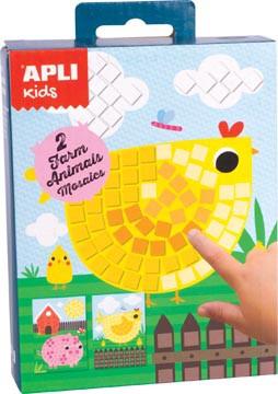 Apli Kids mini kit mozaïek, boerderij