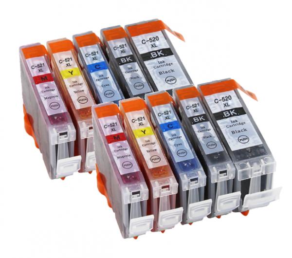 CLI-521/PGI-520 Voordeel set compatibel - 10 stuks
