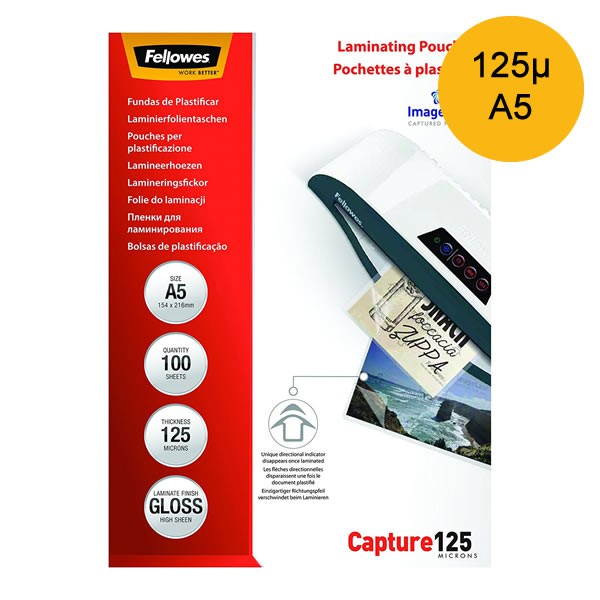 Lamineerhoes A5 125micron - Pak à 100 Stuks