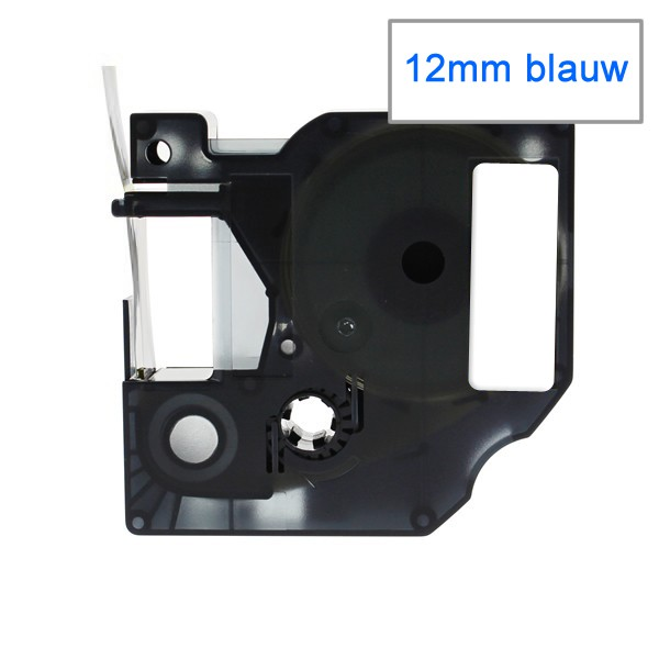 Compatible Labeltape 45014 - 12mmx7m - Blauw Op Wit