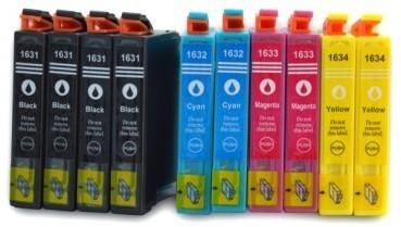T1631-T1634 compatibel inktpatronen 16XL Voordeel set - 10 stuks