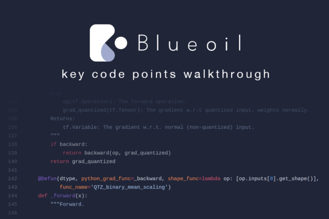 Blueoil key code points walkthrough