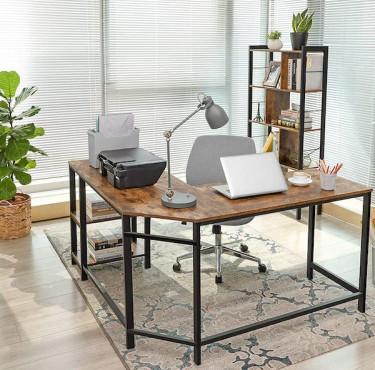 Quel bureau choisir pour un espace de travail optimal ?bureau en bois de style industriel