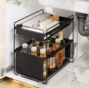 Les meilleurs rangements pour optimiser l'espace autour de l'évier de cuisineRangement sous évier